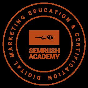 Certificado SEO de SEMrush