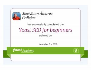 Certificado YOAST SEO for Beginners