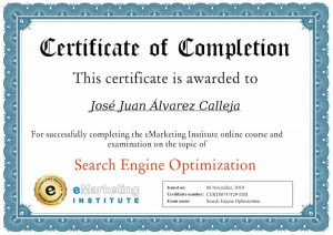 Search Engine Optimization Certification eMarketing